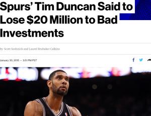 Tim Duncan's advisor placed his money in complex, illiquid investments